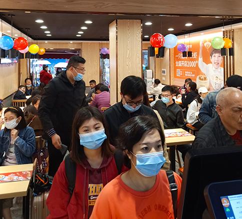 热烈祝贺湖北武汉如意馄饨第一医院店盛大开业!