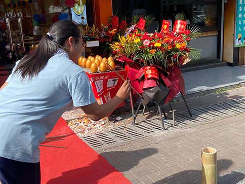 热烈祝贺浙江湖州如意馄饨德清沃尔玛店盛大开业!